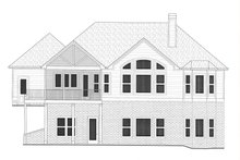 Home Plan - Craftsman Exterior - Rear Elevation Plan #437-128