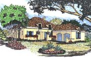 Mediterranean Style House Plan - 3 Beds 2.5 Baths 2581 Sq/Ft Plan #76-103 Exterior - Front Elevation