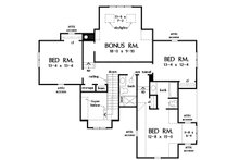 Country Floor Plan - Upper Floor Plan Plan #929-1075