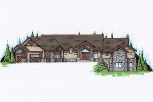 Traditional Exterior - Front Elevation Plan #5-349