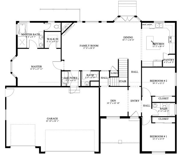 Traditional Floor Plan - Main Floor Plan Plan #1060-46