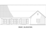 Country Style House Plan - 3 Beds 2.5 Baths 1791 Sq/Ft Plan #17-2550 Exterior - Rear Elevation