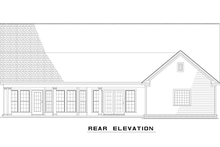 Country Style Home, Single Story, Rear Elevatio