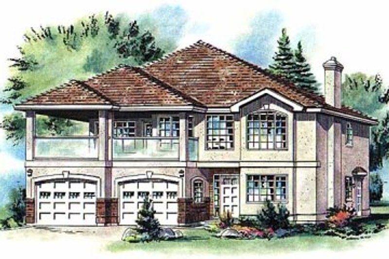 European Exterior - Front Elevation Plan #18-252