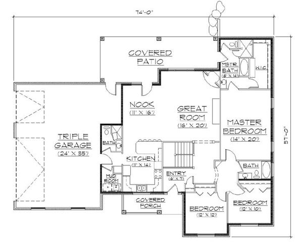 Traditional Floor Plan - Main Floor Plan Plan #5-261