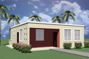 Modern Style House Plan - 3 Beds 1 Baths 974 Sq/Ft Plan #495-3 Exterior - Front Elevation