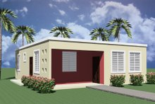 Modern Exterior - Front Elevation Plan #495-3
