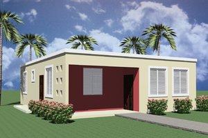 Modern Exterior - Front Elevation Plan #495-3