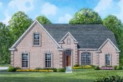 Traditional Style House Plan - 3 Beds 2 Baths 1613 Sq/Ft Plan #424-19 Exterior - Front Elevation