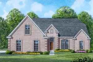Traditional Exterior - Front Elevation Plan #424-19