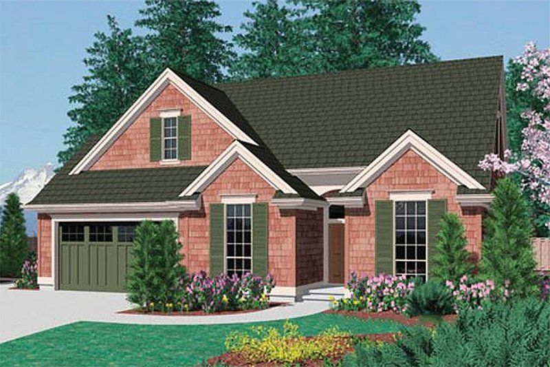 Traditional Exterior - Front Elevation Plan #48-275 - Houseplans.com