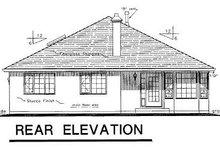 House Blueprint - Ranch Exterior - Rear Elevation Plan #18-117