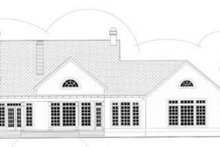 Dream House Plan - Colonial Exterior - Rear Elevation Plan #406-276