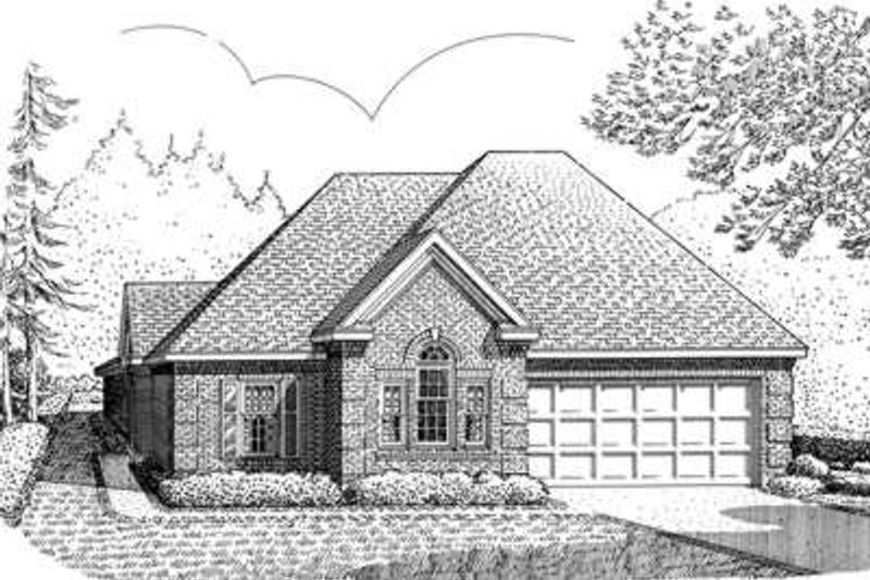 European Exterior - Front Elevation Plan #410-307