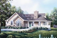 Country Exterior - Front Elevation Plan #57-188