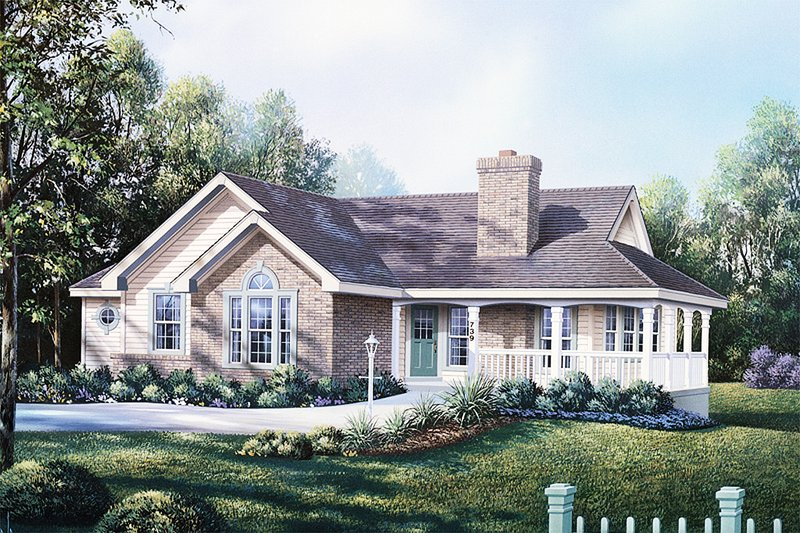 Home Plan Design - Country Exterior - Front Elevation Plan #57-188