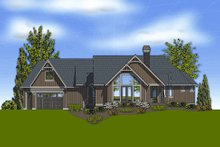 Dream House Plan - Craftsman Exterior - Rear Elevation Plan #48-240