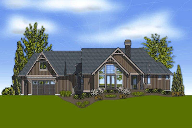 Craftsman Exterior - Rear Elevation Plan #48-240 - Houseplans.com