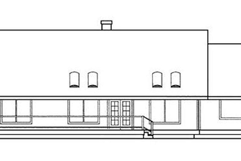 Country Exterior - Rear Elevation Plan #60-186 - Houseplans.com