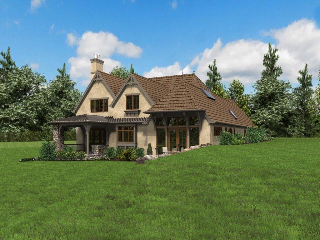 European Style House Plan 3 Beds 3 5 Baths 4142 Sq Ft