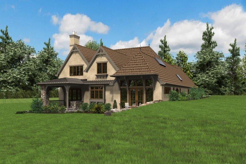 European Exterior - Rear Elevation Plan #48-625 - Houseplans.com