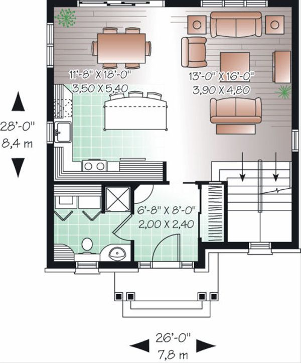 Traditional Floor Plan - Main Floor Plan Plan #23-739