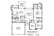 Ranch Style House Plan - 3 Beds 2.5 Baths 1903 Sq/Ft Plan #1010-239 Floor Plan - Main Floor Plan