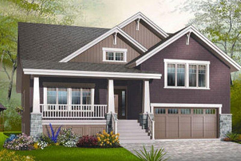 Craftsman Exterior - Front Elevation Plan #23-813