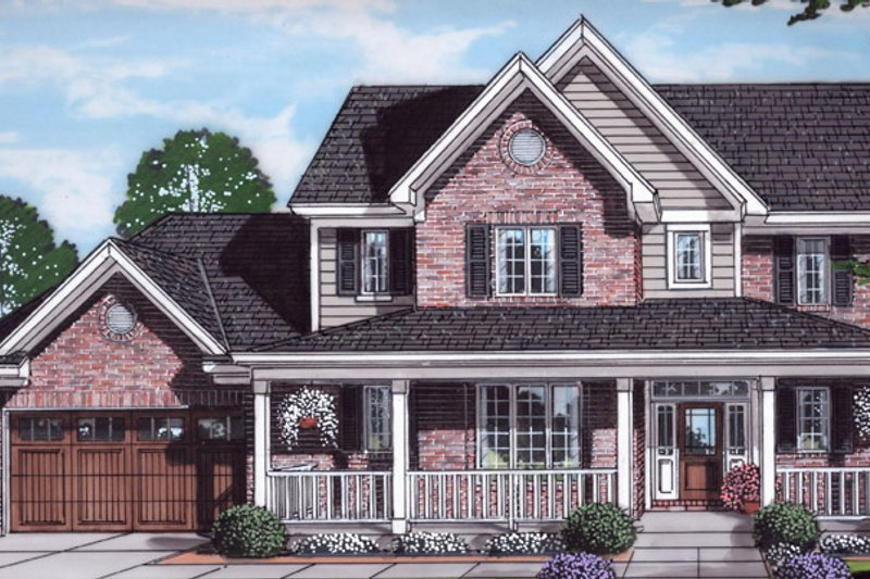 Home Plan - Traditional Exterior - Front Elevation Plan #46-899