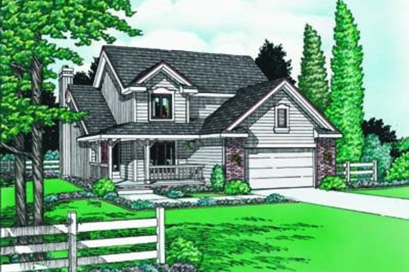 Traditional Exterior - Front Elevation Plan #20-647 - Houseplans.com