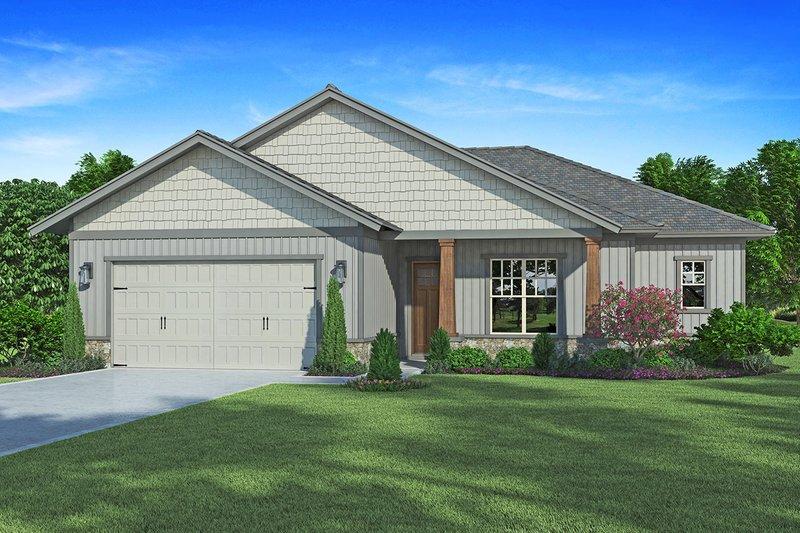 House Plan Design - Craftsman Exterior - Front Elevation Plan #938-98