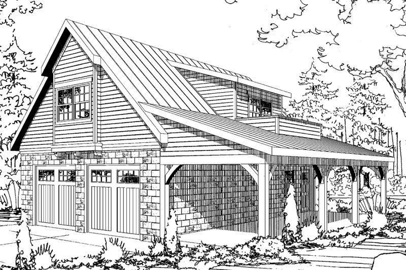 Craftsman Style House Plan - 1 Beds 1 Baths 1789 Sq/Ft Plan #124-941 Exterior - Front Elevation
