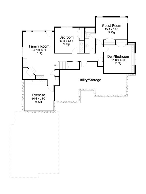 European Floor Plan - Lower Floor Plan #51-481