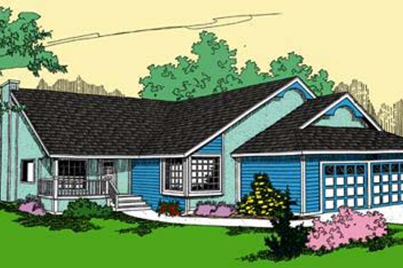 Dream House Plan - Traditional Exterior - Front Elevation Plan #60-573