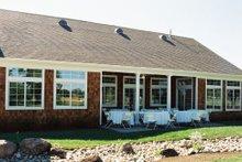 Dream House Plan - Ranch Exterior - Rear Elevation Plan #437-1