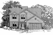Traditional Style House Plan - 4 Beds 3 Baths 2106 Sq/Ft Plan #70-303 Exterior - Front Elevation