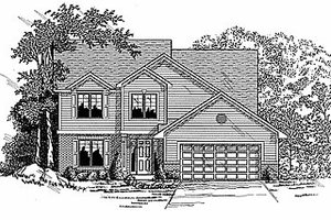 Traditional Exterior - Front Elevation Plan #70-303
