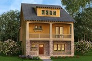 Craftsman Style House Plan - 3 Beds 4.5 Baths 3241 Sq/Ft Plan #419-302 Exterior - Front Elevation