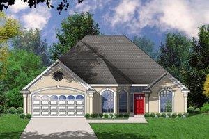 House Plan Design - European Exterior - Front Elevation Plan #40-121