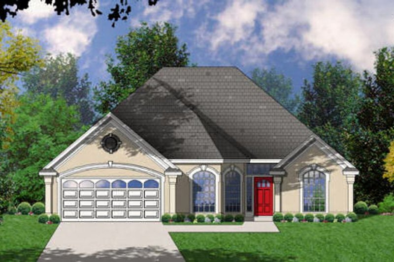 European Exterior - Front Elevation Plan #40-121 - Houseplans.com