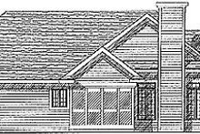 Dream House Plan - Traditional Exterior - Rear Elevation Plan #70-204