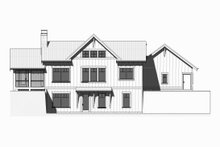 House Plan Design - Ranch Exterior - Rear Elevation Plan #901-128