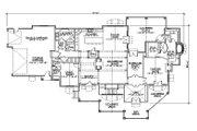 Craftsman Style House Plan - 5 Beds 5.5 Baths 3761 Sq/Ft Plan #5-469 Floor Plan - Main Floor Plan