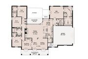 Southern Style House Plan - 4 Beds 2.5 Baths 2240 Sq/Ft Plan #36-485 Floor Plan - Main Floor Plan