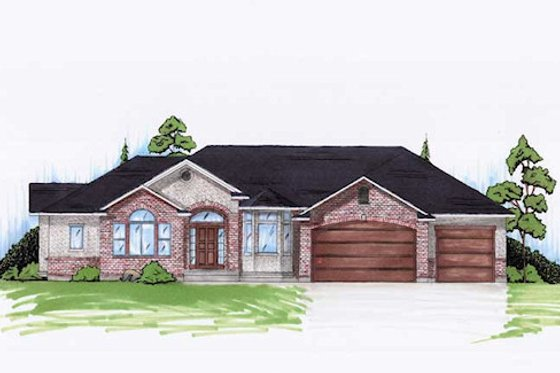 Traditional Exterior - Front Elevation Plan #5-260