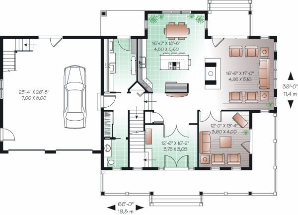 Farmhouse Floor Plan - Main Floor Plan Plan #23-729