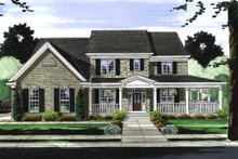 House Plan Design - Traditional Exterior - Front Elevation Plan #46-848