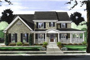 Dream House Plan - Traditional Exterior - Front Elevation Plan #46-848