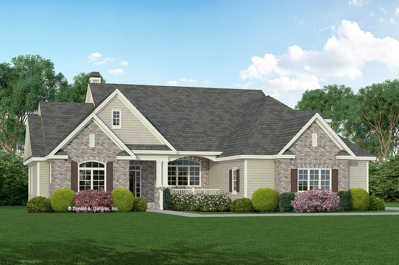 House Plan Design - Traditional Exterior - Front Elevation Plan #929-963