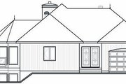 Contemporary Style House Plan - 2 Beds 2 Baths 1400 Sq/Ft Plan #23-873 Exterior - Rear Elevation
